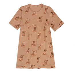 Weekend House Kids Short dress, dog print