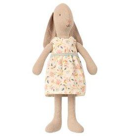 Lapin mini, robe fleuri