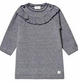 Robe rayé en tricot