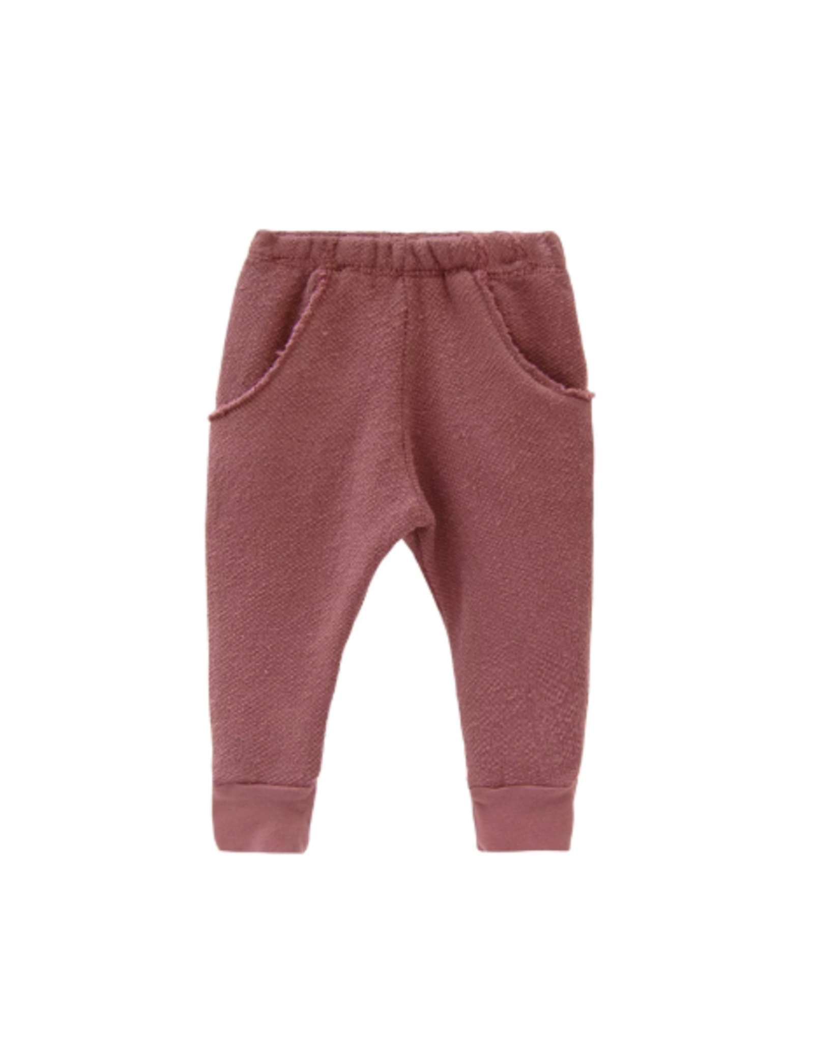 Textured raw pocket track pant