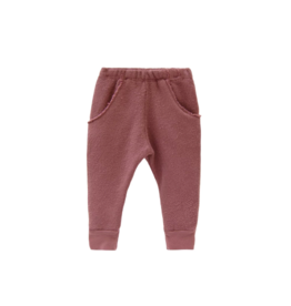 Textured raw pocket track pant