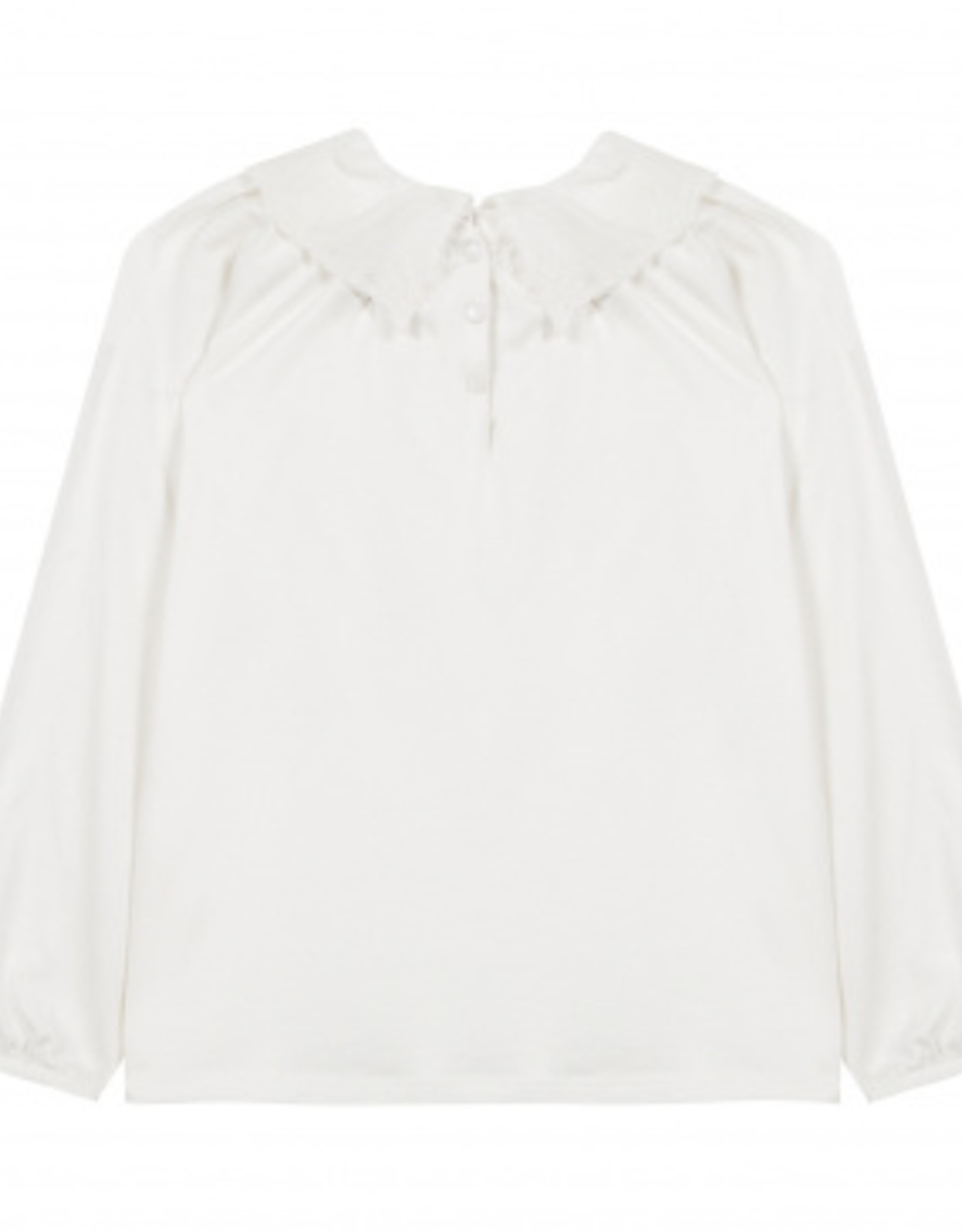 T-shirt with ruffled collar