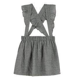 Gingham pinafore dress