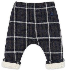 Pantalon à carreaux doublé