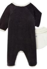 Babies' Velour Sleepsuit and Bib Set