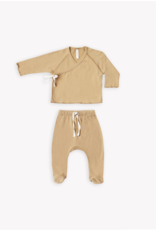 Quincy Mae Kimono top and footed pant set