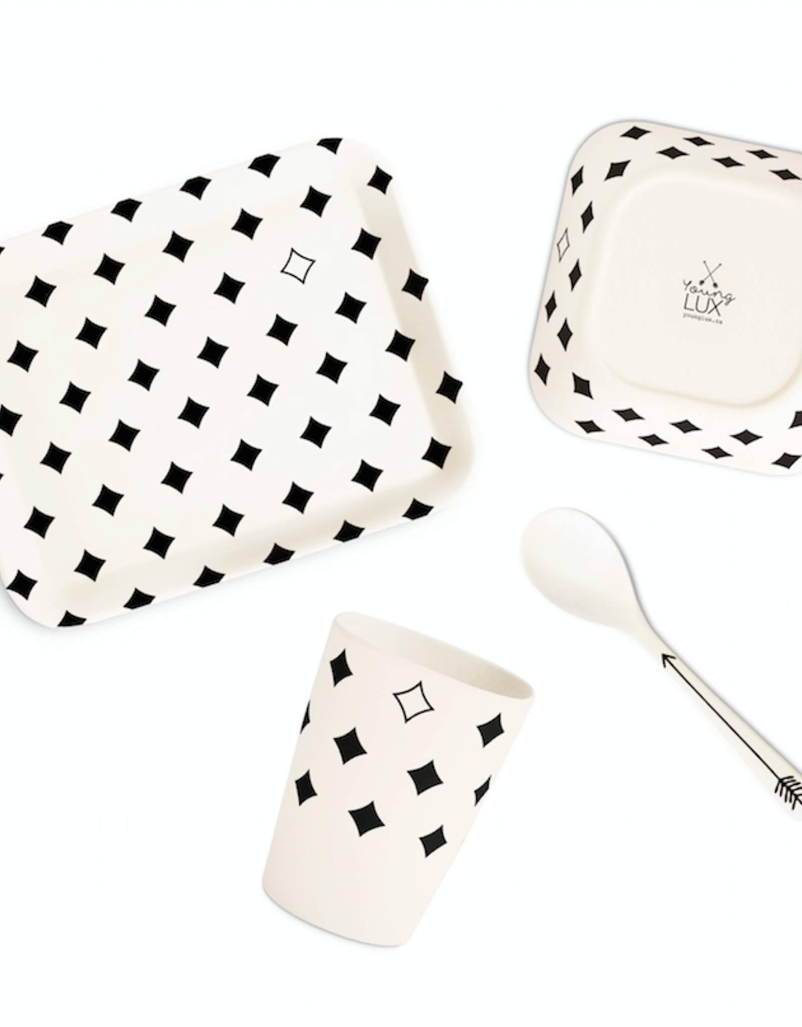 Younglux Bamboo Fiber Tableware gift set