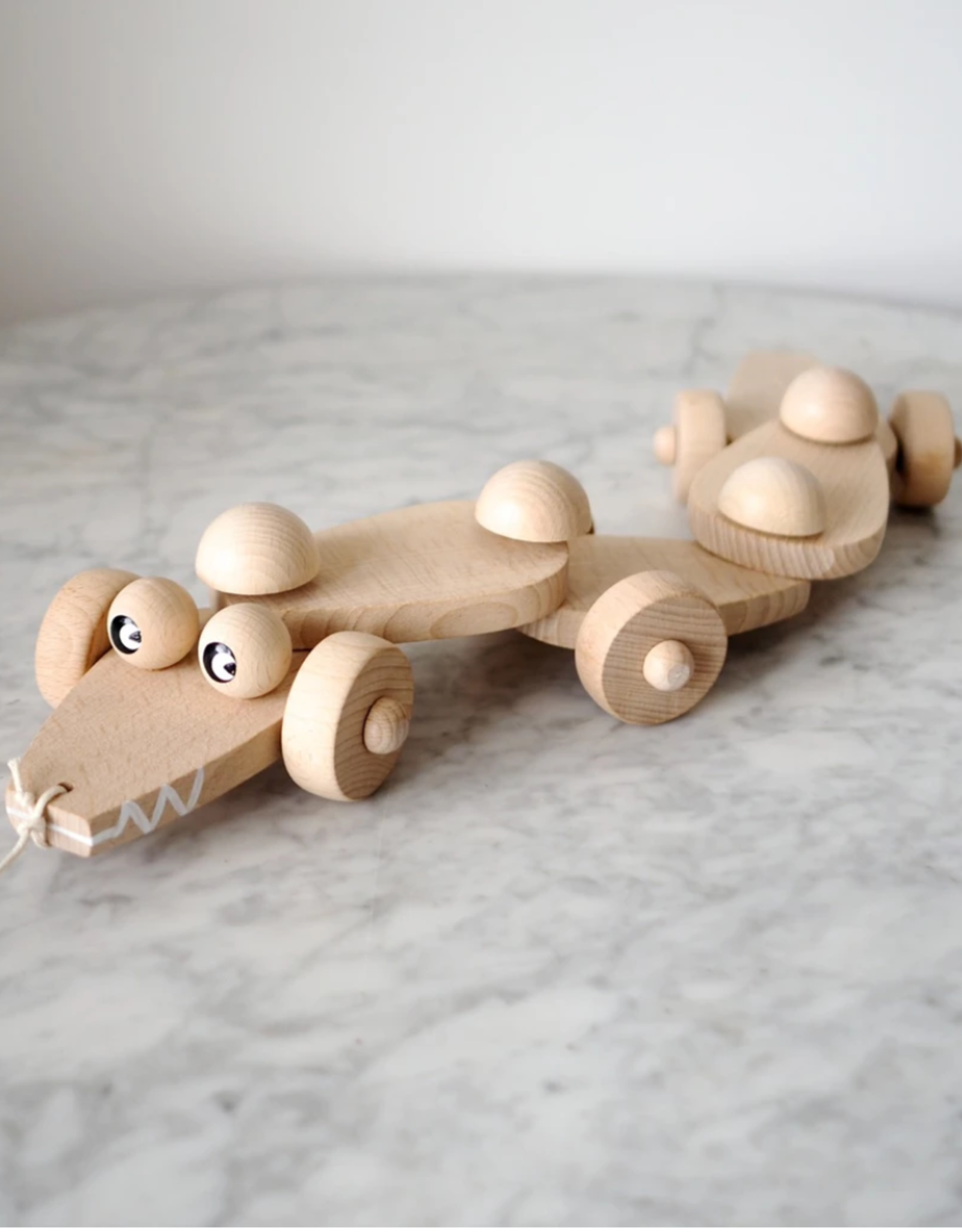 Sarah and Bendrix Charles - Pull Along Wooden Crocodile Toy
