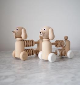 Sarah and Bendrix Bartholomeo- Wooden Dog Counter / Rattle