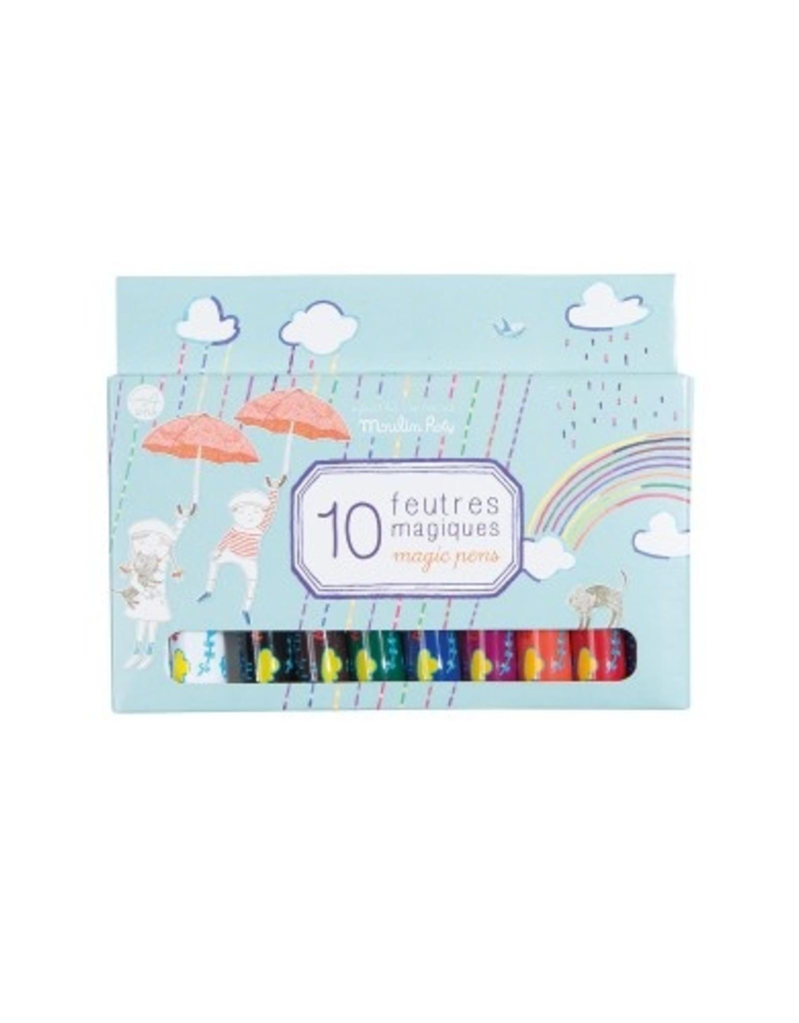 Box of 10 magic felt pens