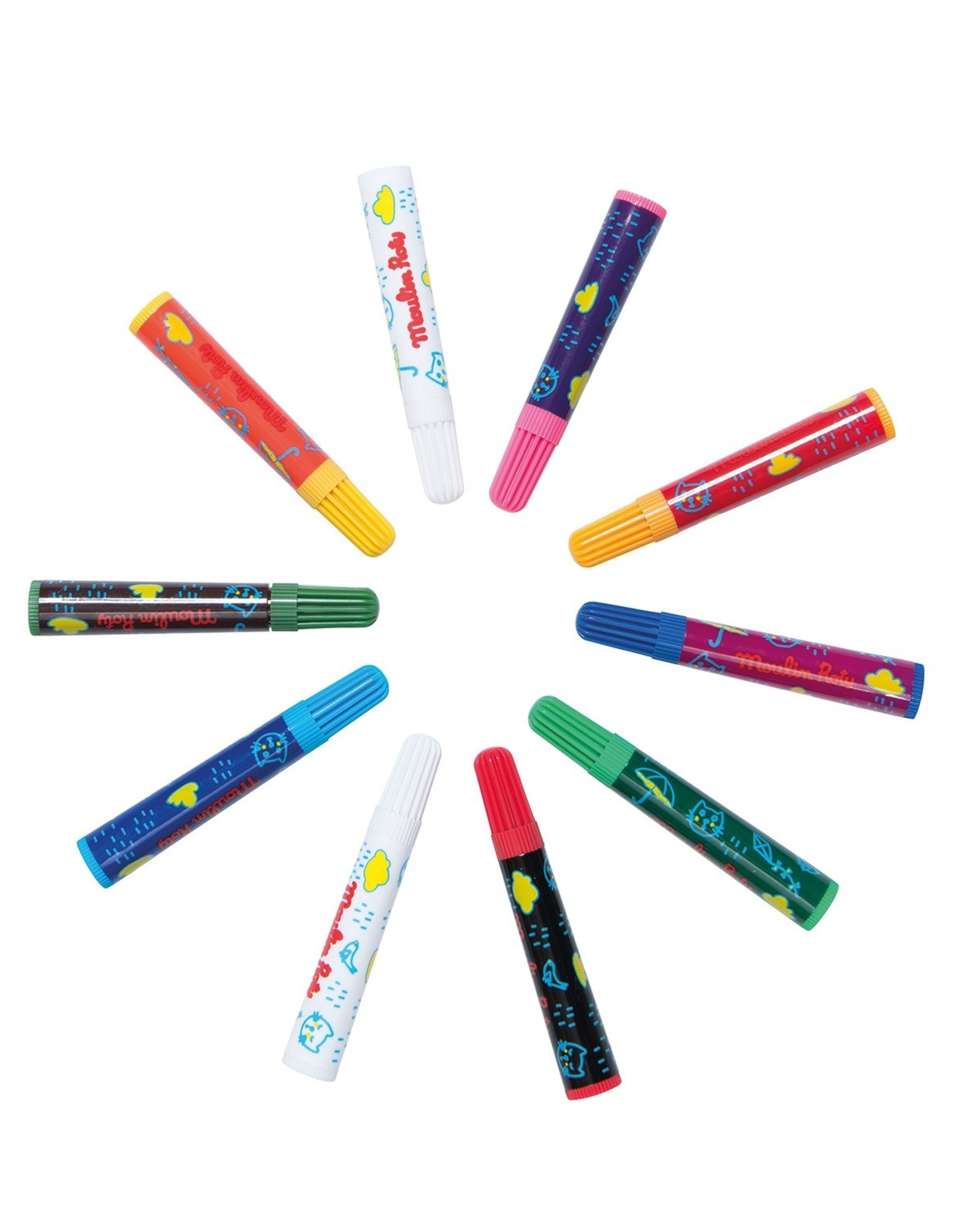 Moulin Roty Box of 10 magic felt pens