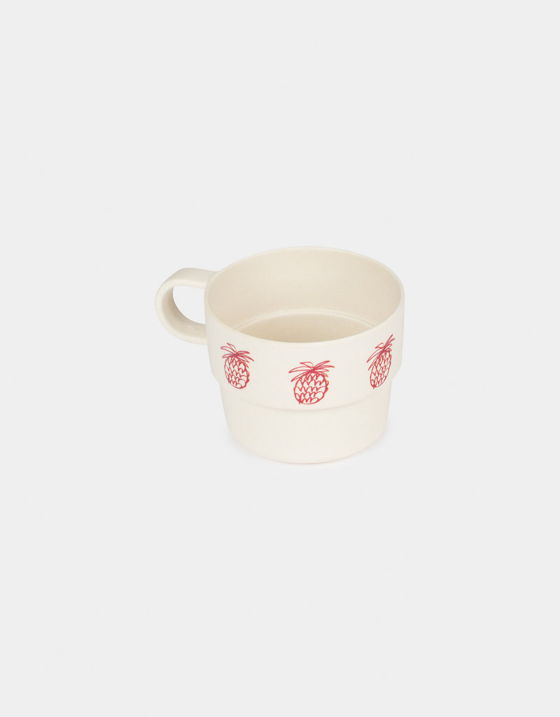 Pineapple Bamboo Cup Pack of 4