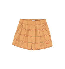 Check pleated short
