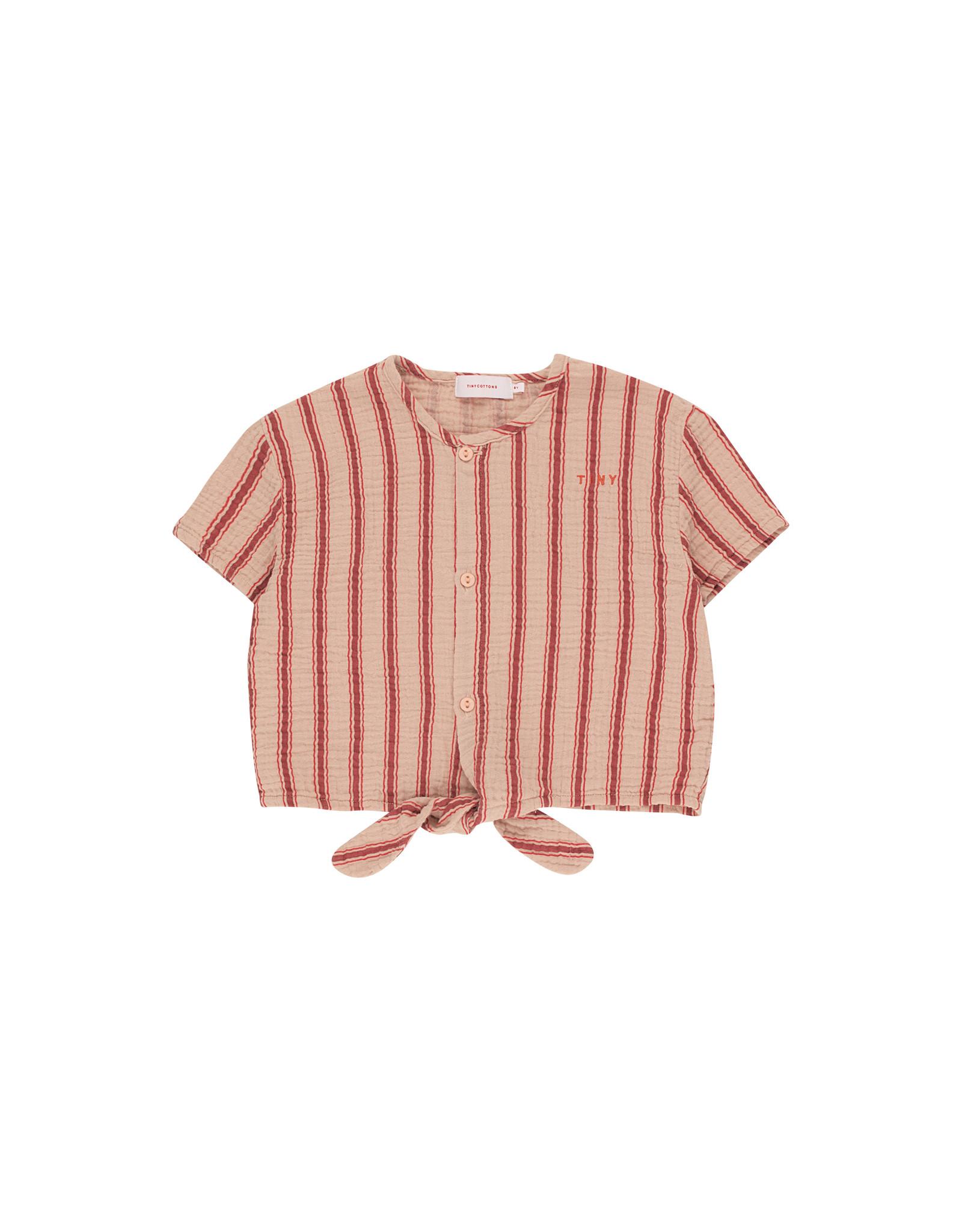 "Tinycottons ""Retro stripes"" tie front top"