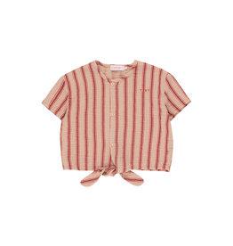 """Retro stripes"" tie front top"