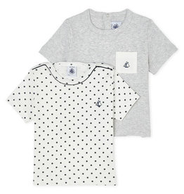 Petit Bateau Lot de 2 t-shirts