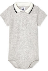 Petit Bateau Bodysuit with Polo Shirt Collar