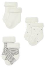Petit Bateau Trio de chaussettes bébé en tricot