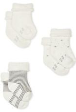 Petit Bateau Knitted Babies' Socks - 3-Piece Set