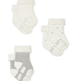 Petit Bateau Knitted Babies' Socks - 3-Piece Set