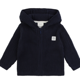 Carrément Beau Cardigan en tricot à capuche