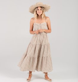 Rylee and Cru Women Tiered maxi dress, flower field