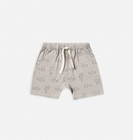 Rylee and Cru Slub short, shark print
