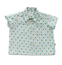 Oeuf Shirt, leeks print