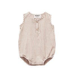 Go Gently Nation Woven Tank Jersey Romper