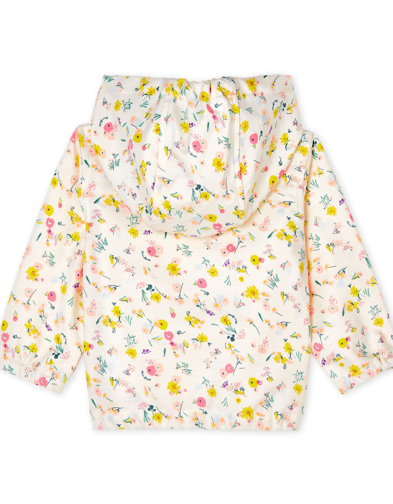Petit Bateau Windbreaker for babies, flowers print