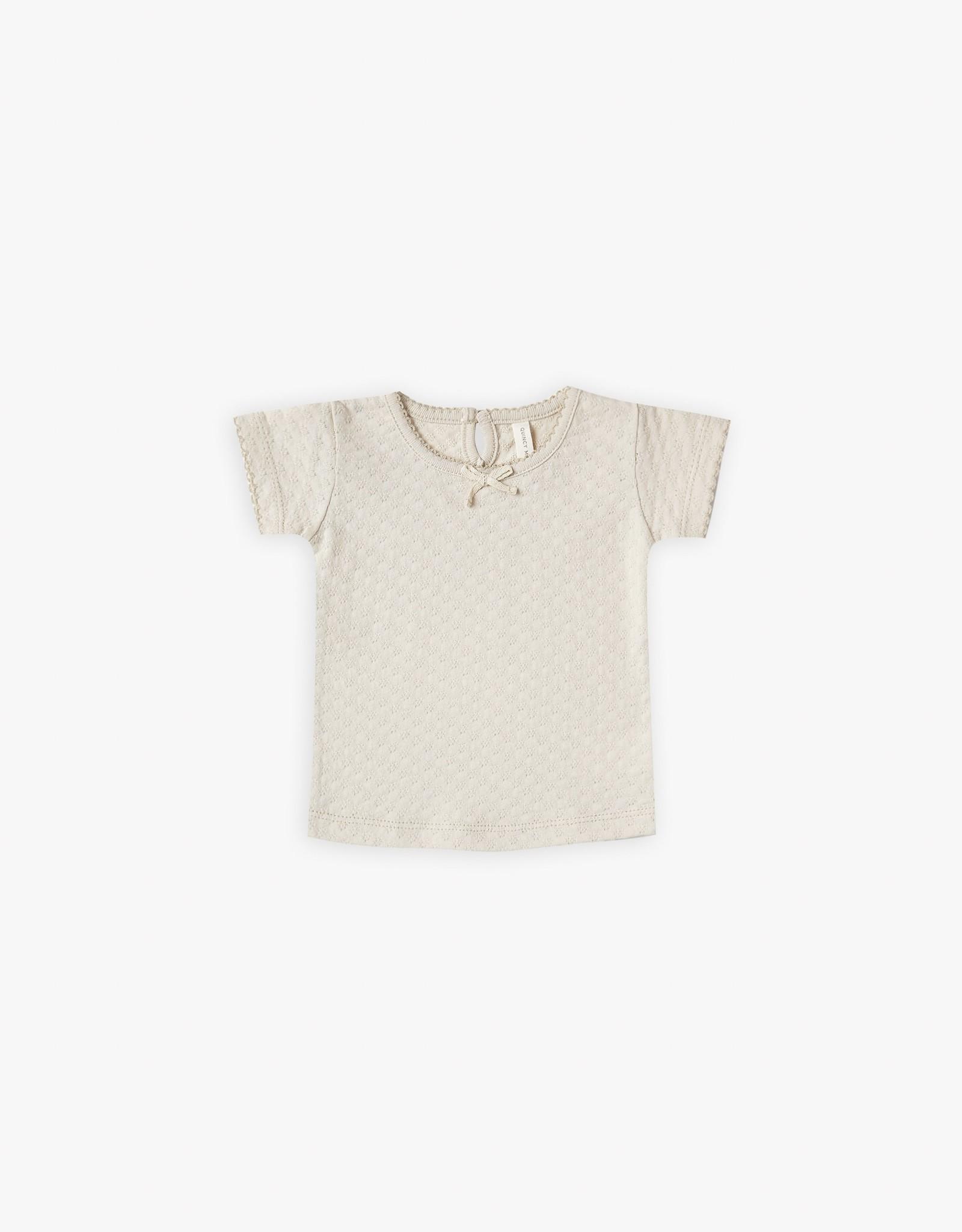 Quincy Mae T-shirt Pointelle