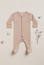 Quincy Mae Full Snap Footie, little hearts print