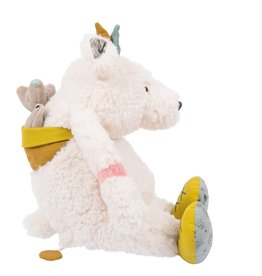 Moulin Roty Peluche musicale Ours blanc Pom - Le voyage d'Olga