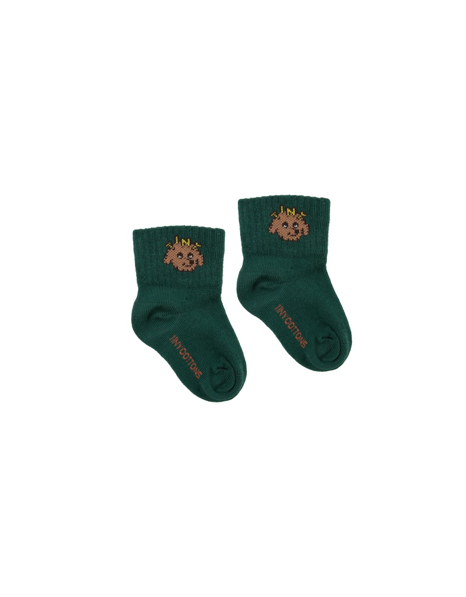"Tinycottons ""TINY DOG"" quarter socks"