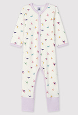 Petit Bateau Ribbed Sleepsuit with Detachable Feet
