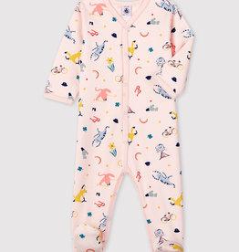 Petit Bateau Pyjama en molleton, à imprimé animaux