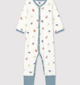 Petit Bateau Pyjama sans pieds, à imprimé gorilles
