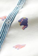 Petit Bateau Footless Gorilla Print Ribbed Sleepsuit
