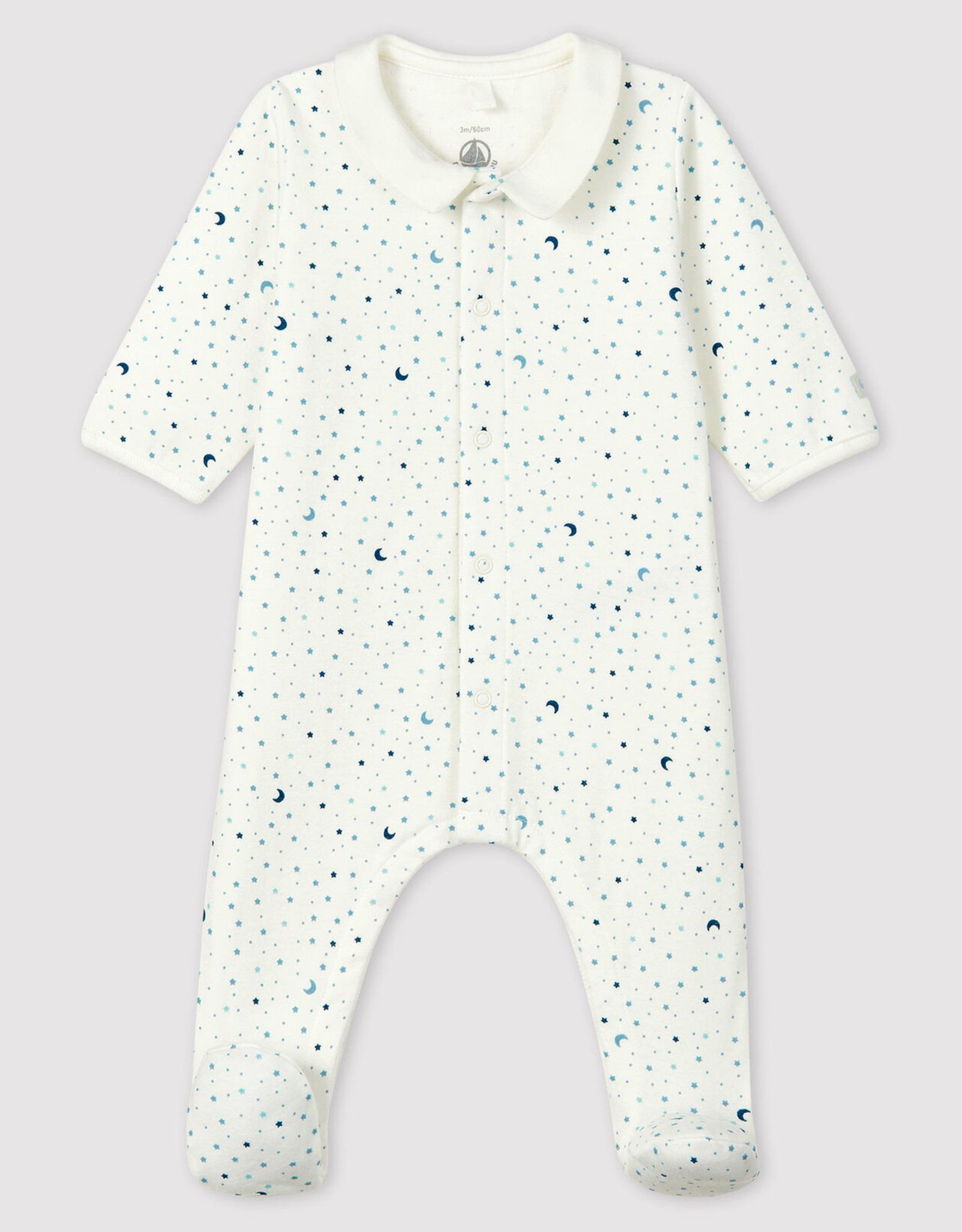 Petit Bateau Starry Night Tube Knit Sleepsuit