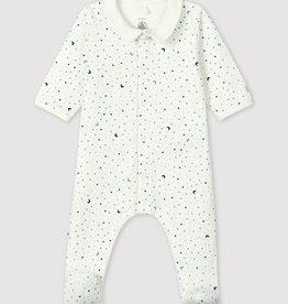 Petit Bateau Starry Night Tube Knit Sleepsuit