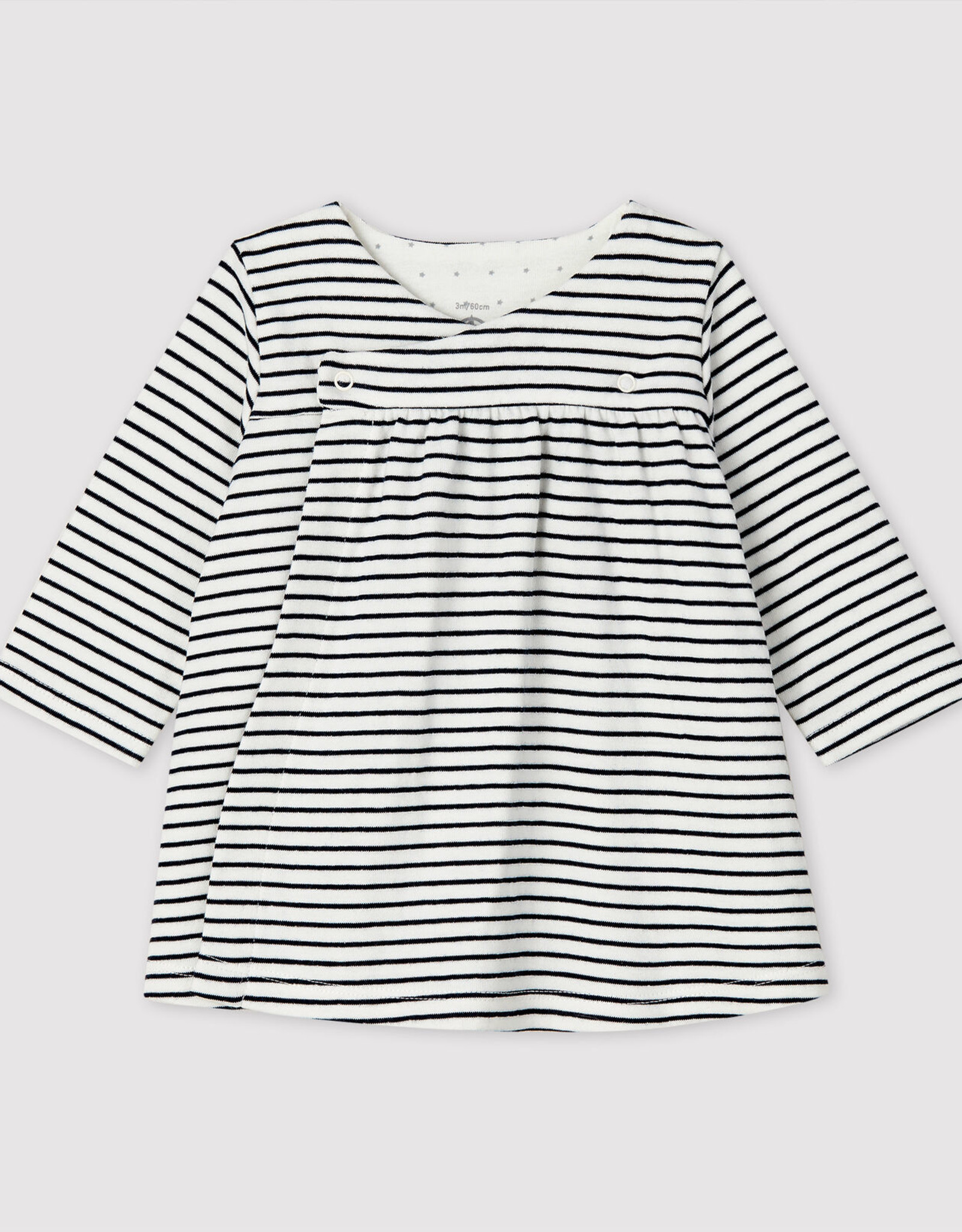 Tube-Knit Striped Dress with Bloomers
