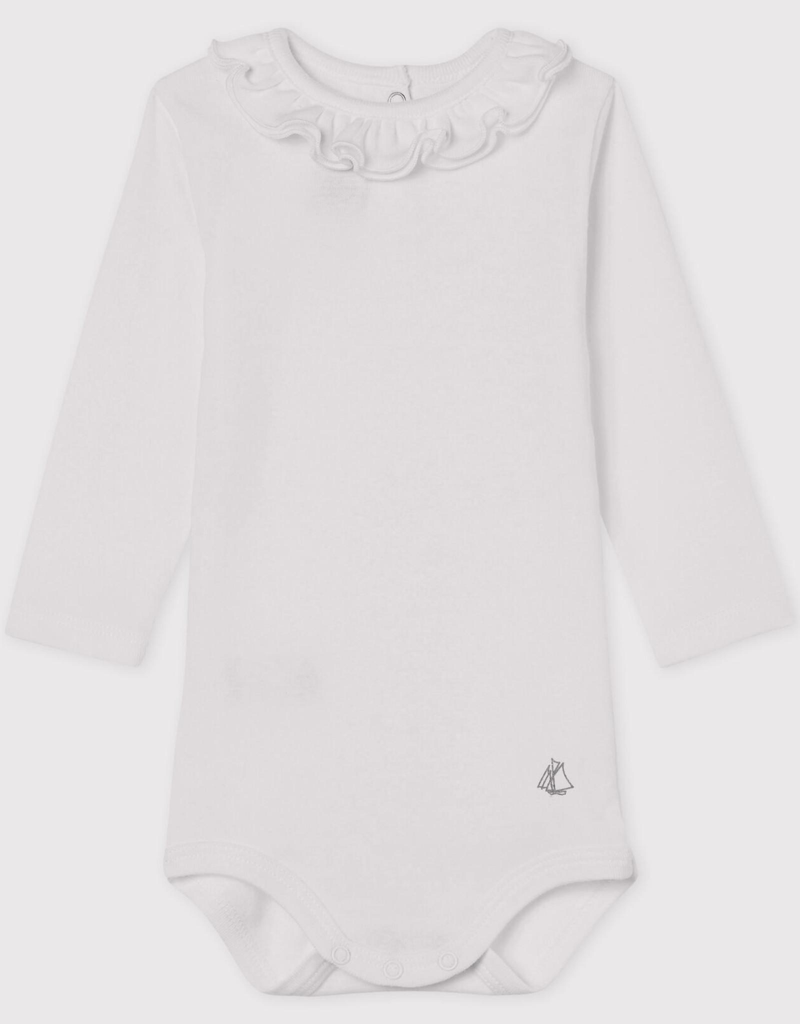 Petit Bateau Bodysuit with frill-neck