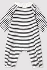 Petit Bateau Baby' Stripy Ribbed Jumpsuit