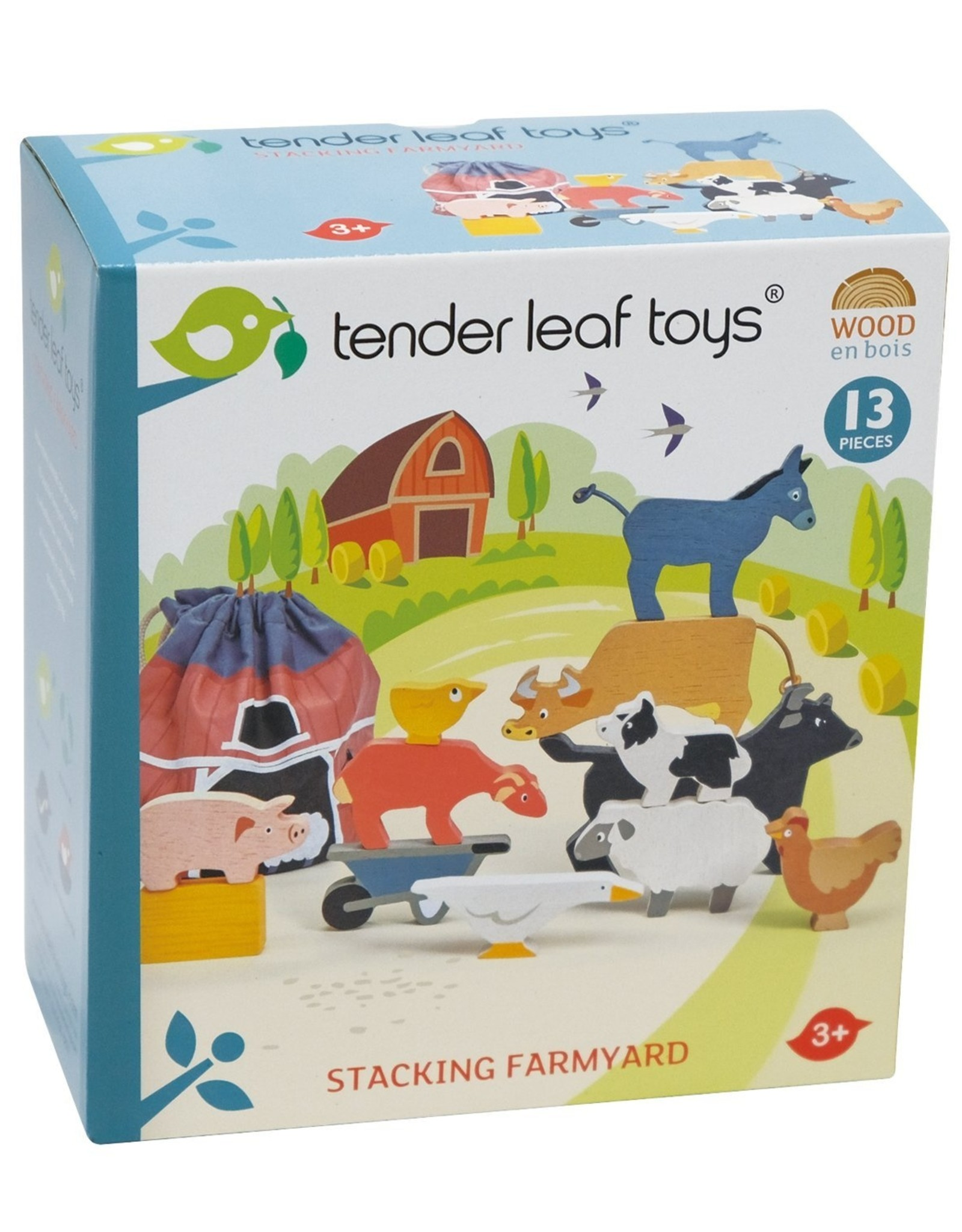 Tender leaf toys Animaux de la ferme à empiler