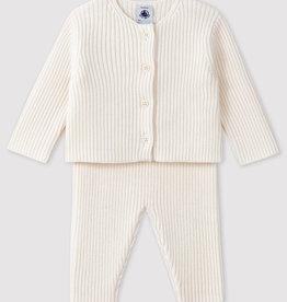Petit Bateau Ensemble 2 pièces pour bébé en tricot