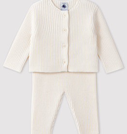 Petit Bateau Ribbed knit baby's 2-piece outfit