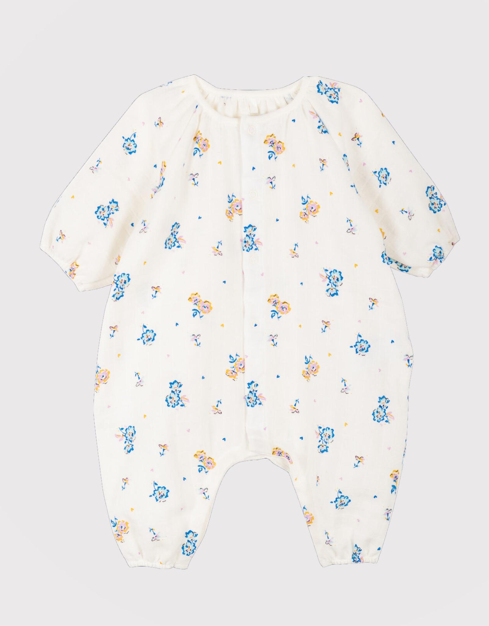 Petit Bateau Baby' Floral Print Jumpsuit