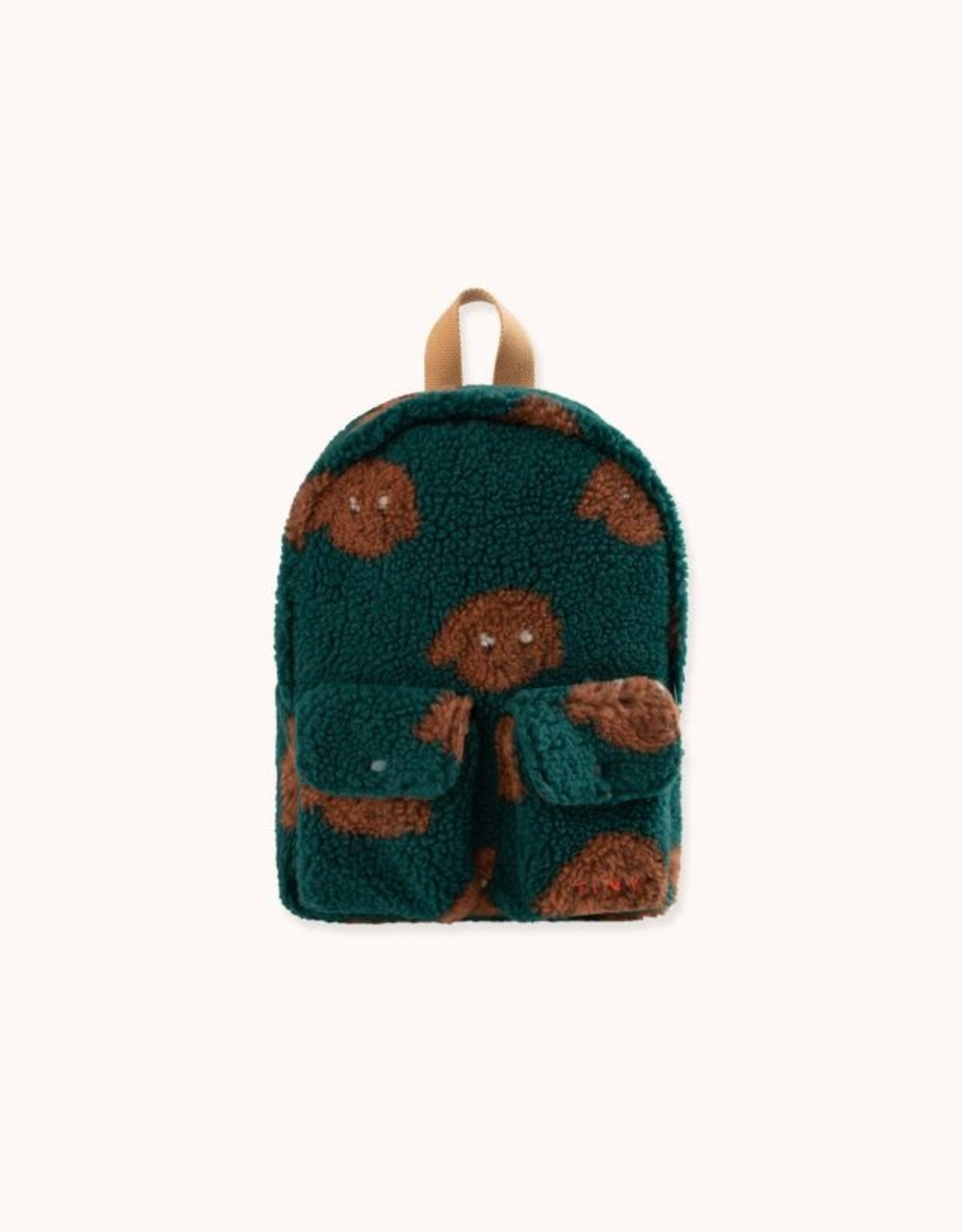 """Tinycottons """"Tiny Dog"""" Small Sherpa Backpack"""