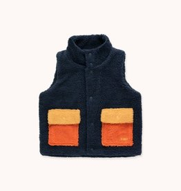 "Tinycottons ""Tiny"" Color Block Sherpa Vest"