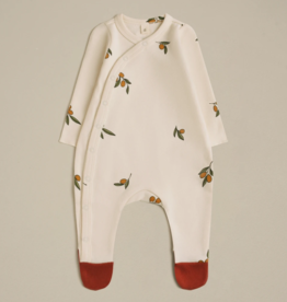 Organic Zoo Olive Garden Suit with contrast feet